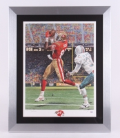 "Jerry Rice Signed LE 49ers 25.5"" x 31"" Custom Framed Lithograph (PSA COA)"