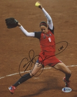 "Cat Osterman Signed Team USA 8x10 Photo Inscribed ""USA"" (Beckett COA)"