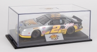 Rusty Wallace Signed 25th Anniversary NASCAR Die Cast Car with Display Case (JSA COA)