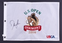 Dustin Johnson Signed 2016 U.S. Open Tournament Golf Pin Flag (JSA Hologram)