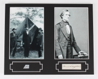 Abraham Lincoln & Jefferson Davis 8x10 Custom Matted Display with (2) Hand-Written Word from Document (PSA LOA Copy)
