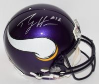 Percy Harvin Signed Vikings Full-Size Authentic Pro-Line Helmet (Harvin Hologram) at PristineAuction.com
