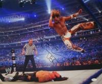 "Shawn Michaels Signed WWE 16x20 Photo vs Undertaker Inscribed ""HBK"" (JSA COA)"