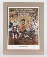 """Walter Payton Signed LE Bears """"Whatever It Takes"""" 22"""" x 28"""" Matted Lithograph Display (JSA ALOA)"""