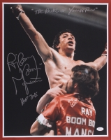 """Ray """"Boom Boom"""" Mancini Signed 16x20 Photo Inscribed """"The Pride Of Youngstown"""" & """"HOF 2015""""  (JSA COA)"""