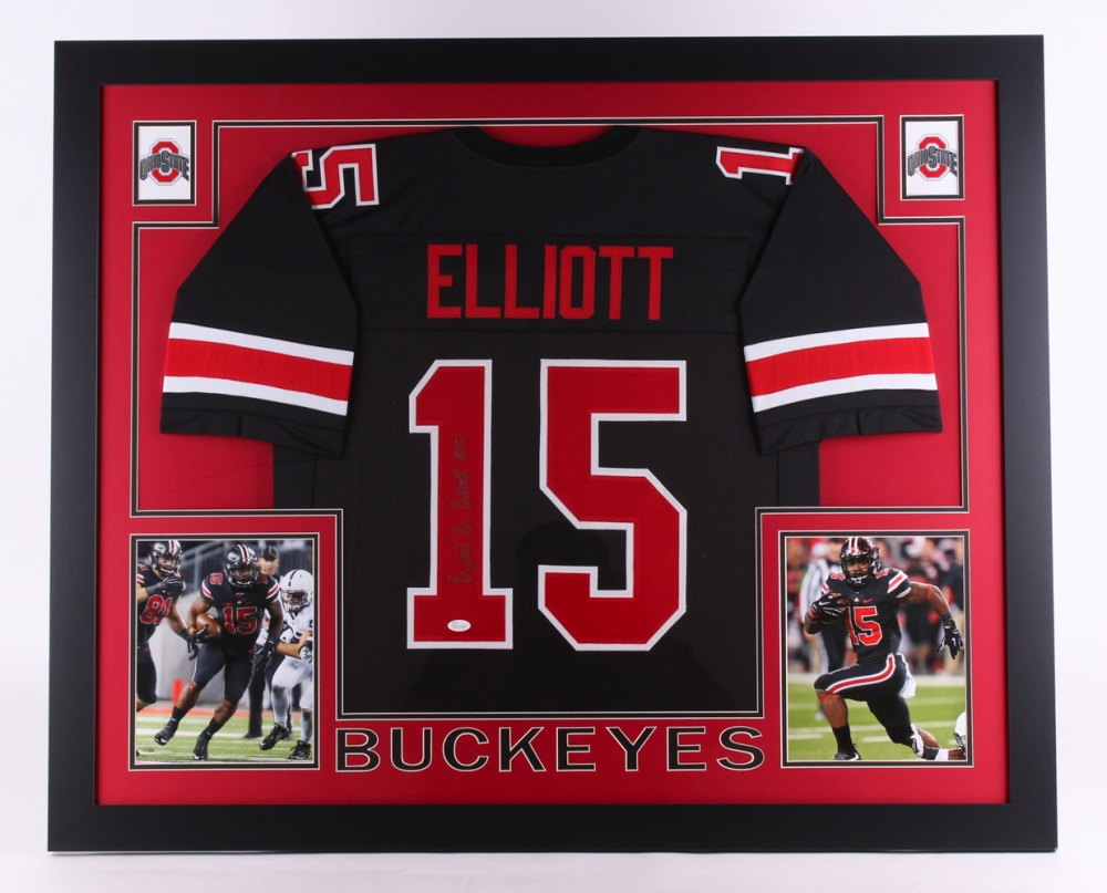 4b8cd9f643a Ezekiel Elliott Signed Ohio State Buckeyes 35