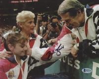 Bela Karolyi Signed Team USA 8x10 Photo (Beckett COA)