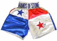 "Roberto Duran Signed ""Hands of Stone"" Boxing Trunks (JSA COA)"