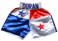 Roberto Duran Signed Panama Boxing Trunks (JSA COA)
