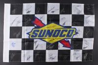 NASCAR Flag Signed by (57) with Richard Petty, Dale Earnhardt Jr., Jeff Gordon, Danica Patrick, Jimmie Johnson, Chase Elliott, Darrell Waltrip (JSA ALOA)