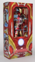 "Stan Lee Signed ""Iron Man Mark XLIII"" Marvel Avengers Age of Ultron Action Figure (Lee Hologram)"