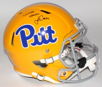 "James Conner Signed Pittsburgh Panthers Full-Size Speed Helmet with Visor Inscribed ""Conner Strong"" (TSE COA) at PristineAuction.com"