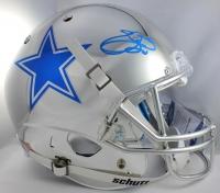Emmitt Smith Signed Cowboys Full-Size Chrome Helmet with Chrome Facemask & Logo (Beckett COA)