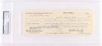 Walter Lantz Signed Personal Bank Check (PSA Encapsulated)