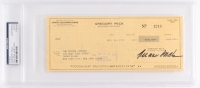 Gregory Peck Signed Personal Bank Check (PSA Encapsulated)