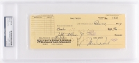 Mae West Signed Personal Bank Check (PSA Encapsulated)