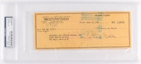 Clark Gable Signed Personal Bank Check (PSA Encapsulated)
