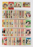 Lot of (509) 1959 Topps Partial Set Baseball Cards with #461 Mickey Mantle, #40 Warren Spahn, #317 Richie Ashburn, #515 Harmon Killebrew