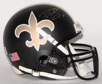 Drew Brees Signed Saints Custom Matte Black Full-Size Authentic Pro-Line Helmet (Brees Hologram)