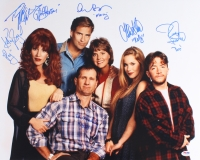 """Married With Children"" 16x20 Photo Signed By (6) With Katey Sagal, Christina Applegate, Ed O'Neill, David Faustino, Amanda Bearse & Ted McGinley (PSA LOA)"