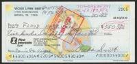 Anna Nicole Smith Signed Personal Bank Check (PSA LOA)