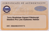 Terry Bradshaw Signed Steelers Full-Size Authentic Pro-Line Helmet (Steiner COA & Bradshaw Hologram) at PristineAuction.com