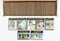 1971 Topps Complete Set of (752) Baseball Cards with #630 Roberto Clemente, #100 Pete Rose, #400 Hank Aaron, #600 Willie Mays, #5 Thurman Munson, #513 Nolan Ryan, #709 Rookie Stars / Dusty Baker RC / Don Baylor RC / Tom Paciorek RC