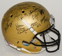 Custom Gold Matte Full-Size Helmet Signed by (24) With Marcus Mariota, Earl Campbell, Bo Jackson, Paul Hornung, Barry Sanders, Mark Ingram, Tim Brown (Steiner LOA)