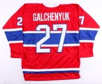 Alex Galchenyuk Signed Canadiens Jersey (Beckett COA)