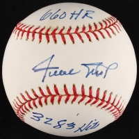 """Willie Mays Signed LE ONL Baseball Inscribed """"3283 Hits"""" & """"660 HR"""" (Steiner COA)"""