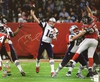 "Tom Brady Signed Patriots ""Passing"" Super Bowl 51 20"" x 24"" Photo (Steiner COA & TriStar)"