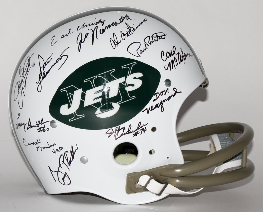 c94521b6be1 1969 Jets TK Suspension Helmet Team Signed by (24) with Joe Namath, Don