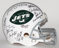 1969 Jets Authentic Pro-Line Throwback Helmet Team Signed by (24) with Joe Namath, Don Maynard, Paul Crane, Earl Christy, Matt Snell (Steiner LOA) at PristineAuction.com