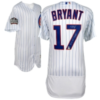 "Kris Bryant Signed Chicago Cubs 2016 World Series Jersey Inscribed ""2016 WS Champs"" (Fanatics Hologram & MLB Hologram) at PristineAuction.com"