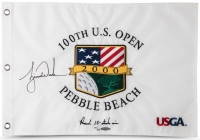 "Tiger Woods Signed 2000 US Open ""Record 15-Stoke Win"" Limited Edition Pin Flag (UDA COA) at PristineAuction.com"