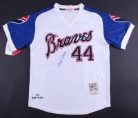 Hank Aaron Signed Braves Commemorative 1974 Home-Run Record Jersey (JSA LOA)