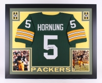 "Paul Hornung Signed Packers 35""x 43"" Custom Framed Jersey (JSA COA) at PristineAuction.com"