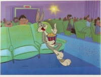 "Bugs Bunny ""At the Movies"" Looney Tunes 1990 Warner Bros. 50th Anniversary Animation Serigraph Cel at PristineAuction.com"