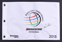 Arnold Palmer Signed 2015 World Golf Championships Pin Flag (JSA ALOA)