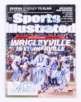 2016 Chicago Cubs World Series Champions Sports Illustrated Issue Team-Signed By (9) with Kris Bryant, Jake Arrieta, Addison Russell, Kyle Schwarber (JSA ALOA)