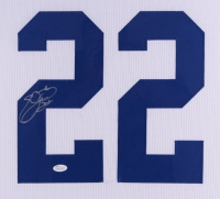 "Emmitt Smith Signed Cowboys 35"" x 43"" Custom Framed Jersey (JSA COA) at PristineAuction.com"