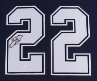 "Emmitt Smith Signed Cowboys 35"" x 43"" Custom Framed Jersey (JSA COA) (Imperfect) at PristineAuction.com"