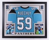 "Luke Kuechly Signed Panthers 35"" x 43"" Custom Framed Jersey (JSA COA) at PristineAuction.com"