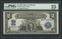 1899 $2 Two Dollars Silver Certificate Large Size Bank Note Bill (PMG 25)