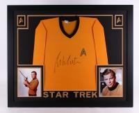 """William Shatner Signed Star Trek 35"""" x 43"""" Custom Framed Uniform (JSA COA)"""