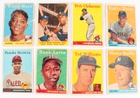 1958 Topps Complete Set of (494) Baseball Cards with #1 Ted Williams, #5 Willie Mays, #30A Hank Aaron, #47 Roger Maris, #52 Roberto Clemente, #150 Mickey Mantle