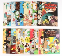 Lot of (20) Vintage Disney Mickey Mouse Comic Books with 1989 Mickey Mouse #249, 1989 Mickey Mouse #253, 1989 Mickey and Donald and the Beanstalk #16