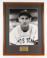 "Ted Williams Signed Red Sox 22"" x 28"" Custom Framed Photo Display (PSA LOA & Williams COA)"