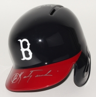 Carl Yastrzemski Signed Red Sox Full-Size Batting Helmet With (5) Inscriptions (PSA COA)