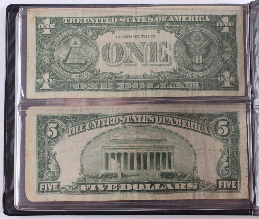 Online sports memorabilia auction pristine auction world reserve monetary exchange bankers portfolio of 1 1957 1 one dollar blue seal xflitez Images